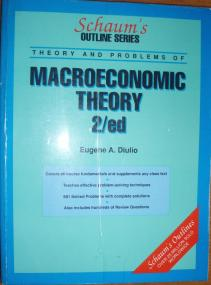Theory and problems of Macroeconomic portada